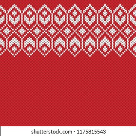 Wool Sweater Design. Fairisle Seamless Knitting Pattern