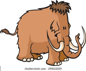 Woolly Mammoth  A cartoon Woolly Mammoth. Vector File.