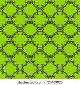 word art on green - the word love rotated and reflected into a seamless pattern
