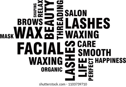Word cloud beauty salon words