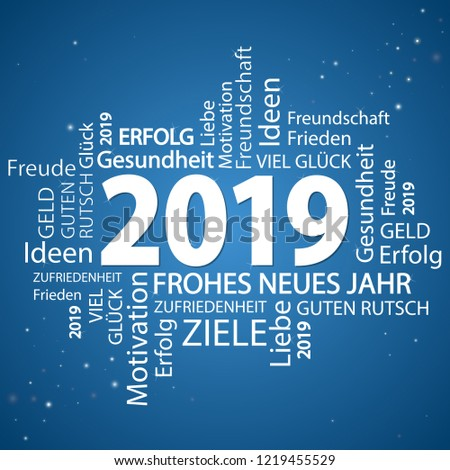 Word Cloud New Year 2019 Greetings Stock Vector Royalty Free