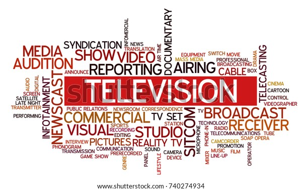 Word Cloud Related Tv Business Keywords Stock Vector