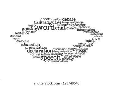 word cloud speech concept