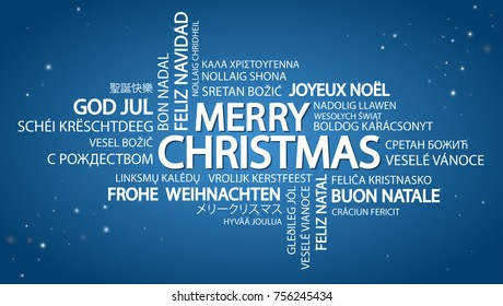 photo about Merry Christmas in Different Languages Printable known as Imágenes, fotos de inventory y vectores sobre Term+cloud+