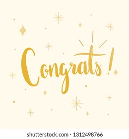 The word congrats typography vector