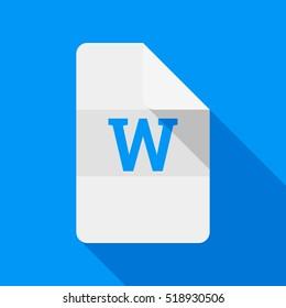 Word document. Vector icon.