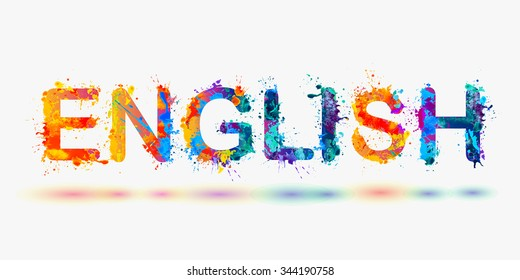 "Word ""ENGLISH"" for language courses"