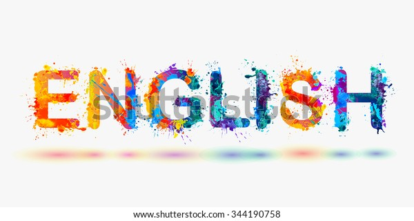 Word English Language Courses Stock Vector (Royalty Free ...
