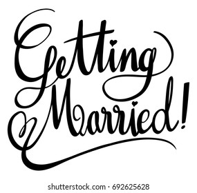 Word expressions for getting married illustration