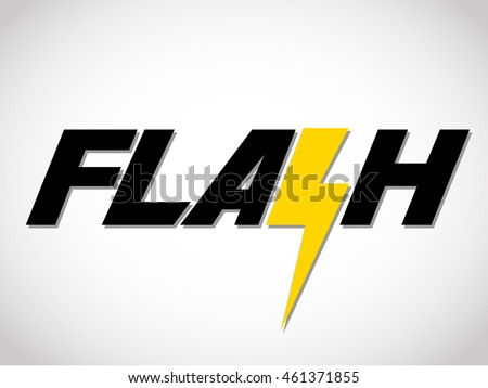 word flash flash sign のベクター画像素材 ロイヤリティフリー