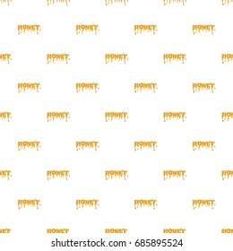 Word honey pattern seamless repeat in cartoon style vector illustration
