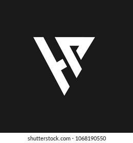 Word HP logo design in letter vector format.