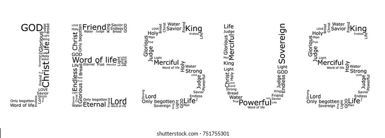 """The word """"JESUS"""" made by different words"""