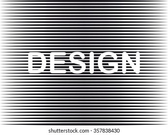 Word logo design it is drawn in the form of the drawing against a line background.