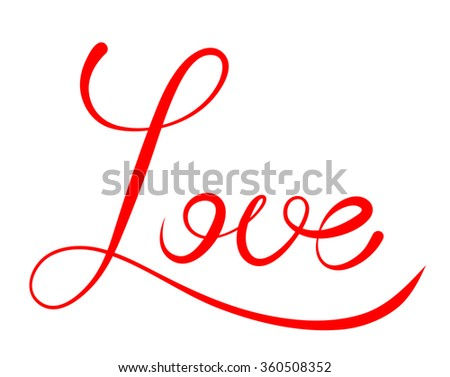 Word Love Isolated On Transparent Background Stock Vector Royalty