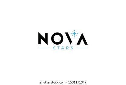 Word mark logo formed star symbol in the letter v
