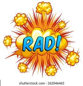 Word rad with cloud explosion background