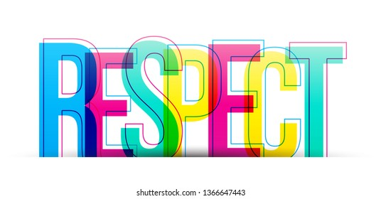 The word Respect. Vector letters isolated on a white background
