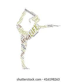 word sharp vector design yoga