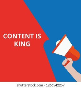 Word writing text Content Is King. Vector illustration