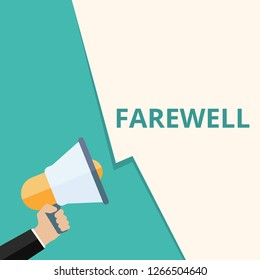 Word writing text Farewell. Vector illustration