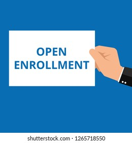 Word writing text Open Enrollment. Vector illustration