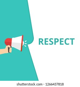 Word writing text Respect. Vector illustration