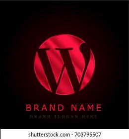 Wordpress red chromium metallic logo