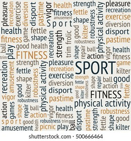 words about sports. sport. fitness. health. the correct way of life