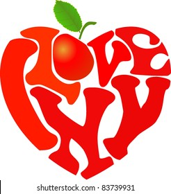 I love new york images stock photos vectors shutterstock words i love ny and apple shaped in heart symbol thecheapjerseys Images