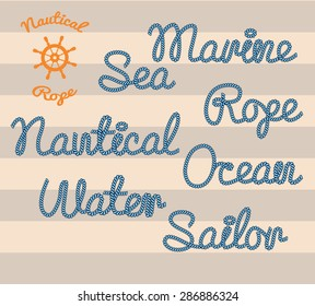 Words made from nautical rope