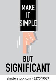 Words MAKE IT SIMPLE vector illustration