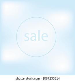 Words sale, brush sammer lettering poster. Vector sammer illustration