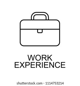work experience line icon. Element of human resources signs with name for mobile concept and web apps. Thin line work experience line icon can be used for web and mobile on white background