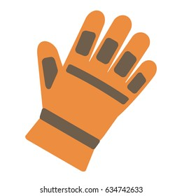 Work glove isolated on white background, vector illustration.