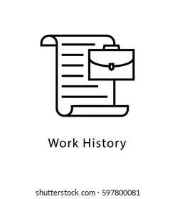 Work History Vector Line Icon