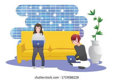 work from home, Work at home concept design
