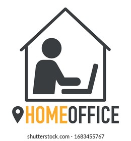 Arbeiten Sie zu Hause während der Corona covid-19 Home Office
