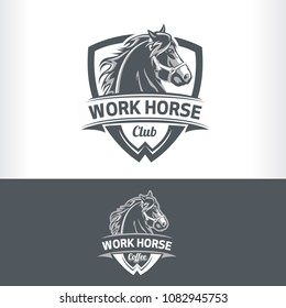 Work Horse badge