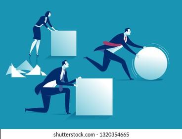 Work intelligent. Business concept illustration