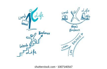 Work Life Balance Template Set