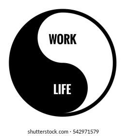 Work Life Balance Yin Yang Concept