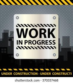 work in progress background vector illustration
