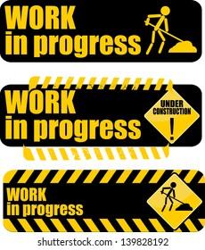 Work in progress, icon vector