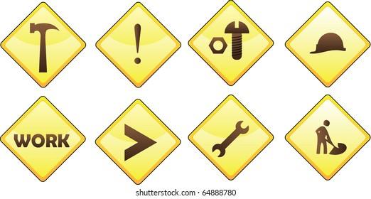 work signs illustration