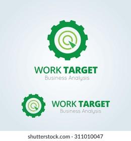 Work target logo, gear symbol