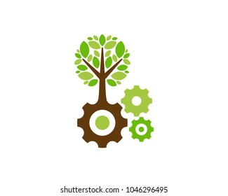Work Tree Icon Logo Design Element