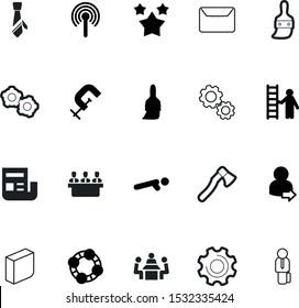work vector icon set such as: smart, member, avatar, clean, choice, machine, compression, organic, good, settings, stars, correspondence, login, add, gym, address, account, clip, progress, tie