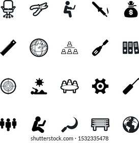 work vector icon set such as: working, adult, leather, soldering, document, delivery, girl, logistics, environment, harvesting, education, color, field, desk, growth, carving, pruning, electric