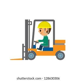 Forklift Cartoon Images, Stock Photos & Vectors | Shutterstock